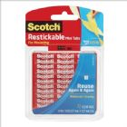 Scotch Restickable Tabs 12.7x12.7mm Ref R103 [Pack 18]